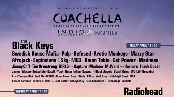 Coachella 2012 Lineup