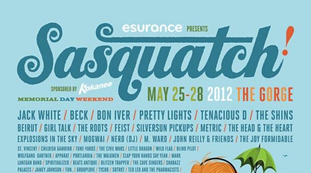 Sasquatch 2012 Lineup