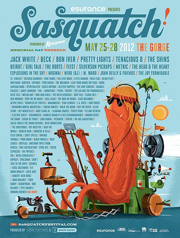 Sasquatch 2012 Lineup Poster