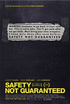 Safety Not Guaranteed Movie cover