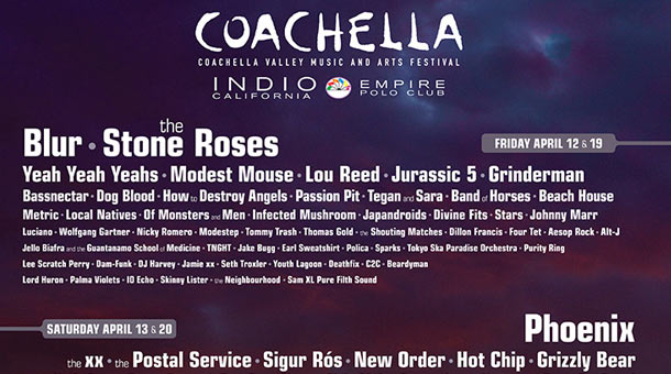 Coachella 2013 Lineup Announcement News