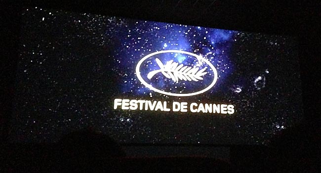 Cannes Logo In Sky