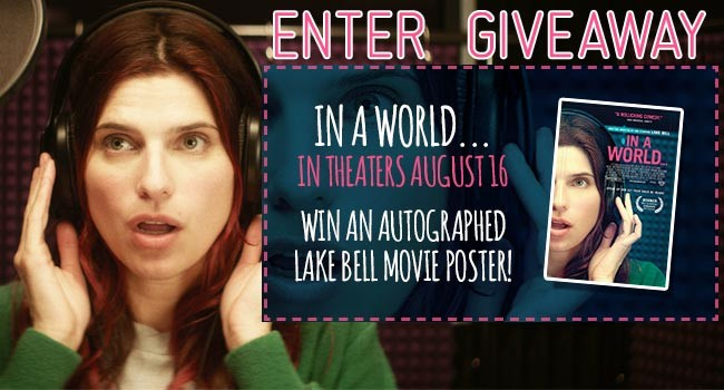Giveaway: Movie Poster Autographed by Lake Bell