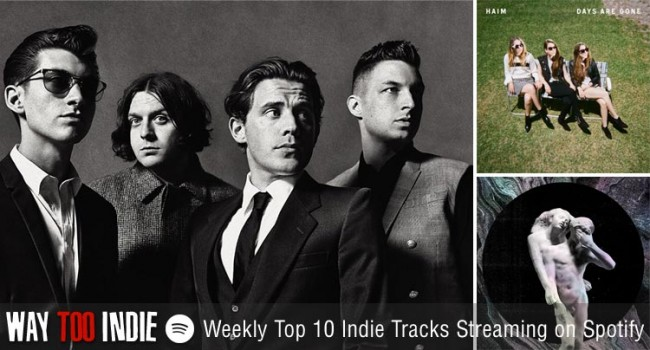 Weekly Top 10 Indie Tracks Streaming on Spotify: Arctic Monkeys, Haim, Arcade Fire & more