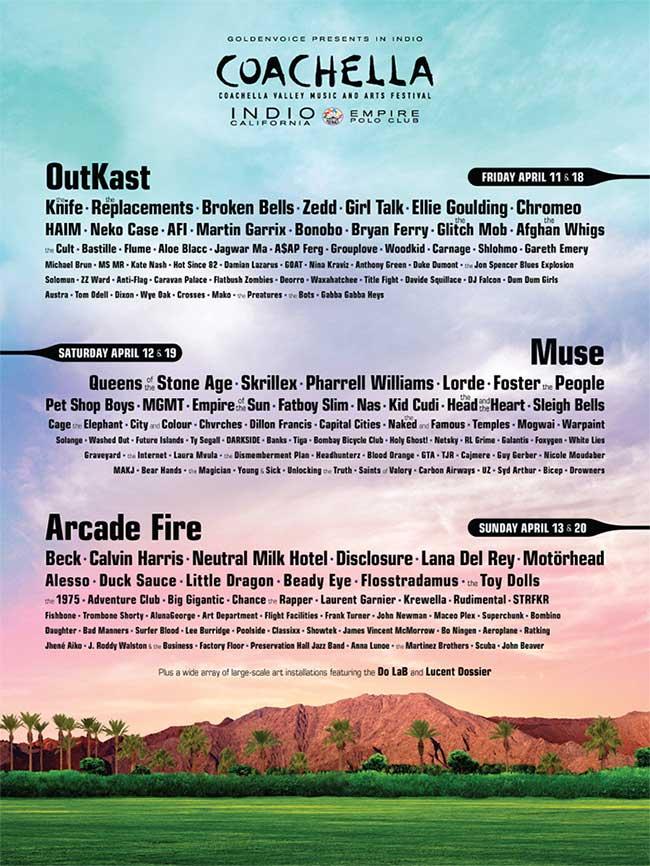 2014 Coachella lineup