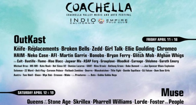 Coachella 2014 Lineup Revealed
