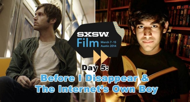 SXSW 2014: Before I Disappear & The Internet's Own Boy:  The Story of Aaron Swartz