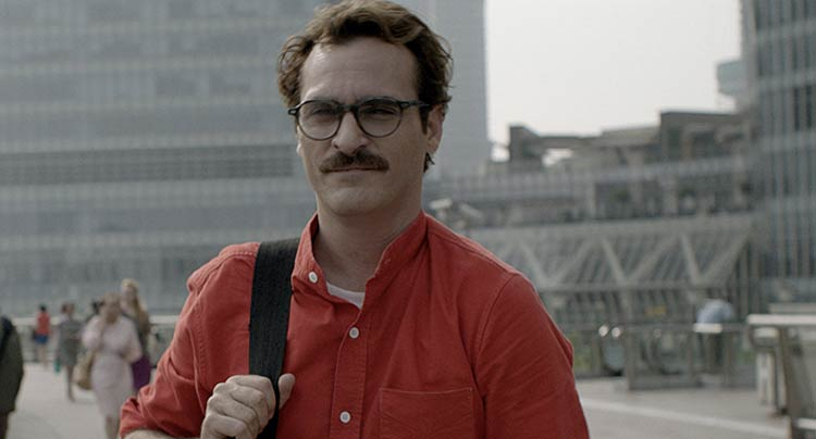 Joaquin Phoenix Her moustache