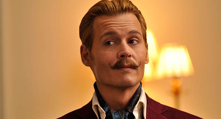 Johnny Depp Mortecai moustache