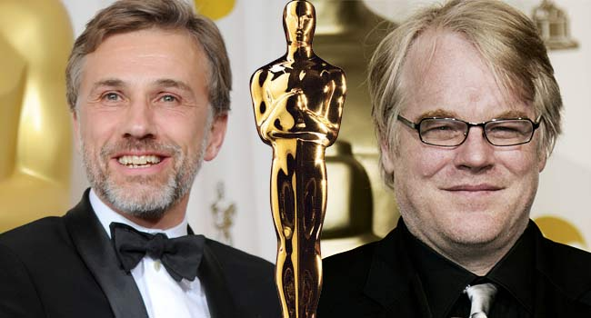 Christoph Waltz and Philip Seymour Hoffman Oscars