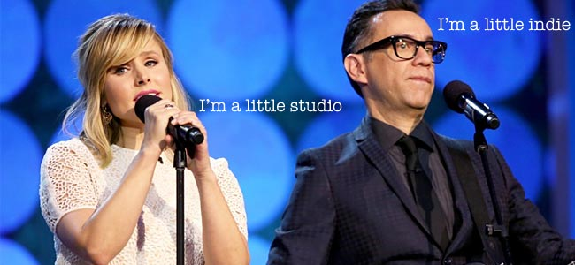 Fred Armisen and Kirsten Bell Spirit Awards