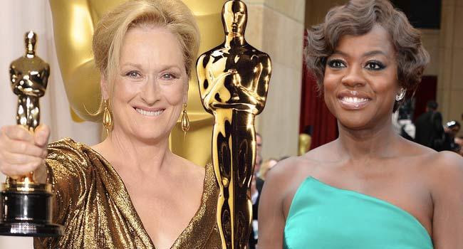 Meryl Streep Viola Davis 2012 Oscars