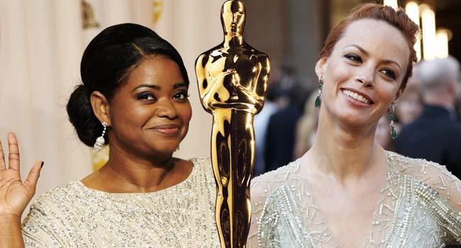 Octavia Spencer and Berenice Bejo at the Oscars