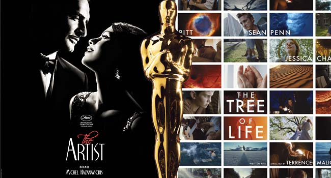 The Artist and The Tree of Life Oscars