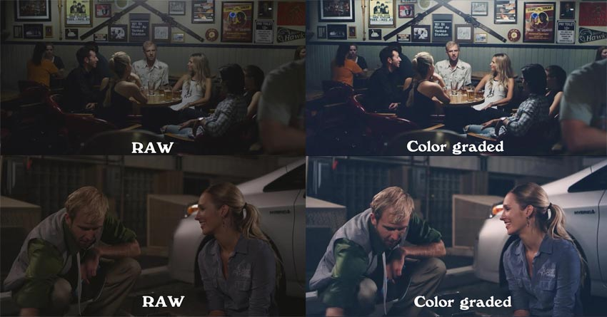 RAW versus Color Graded