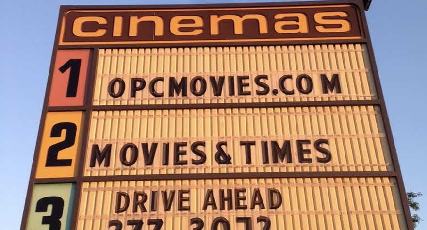 cinema sign outside