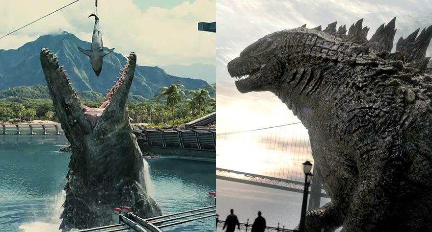 Jurassic World and Godzilla
