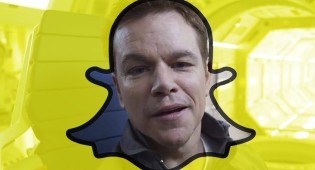 WATCH: Matt Damon in the 'The Martian Snapchat'